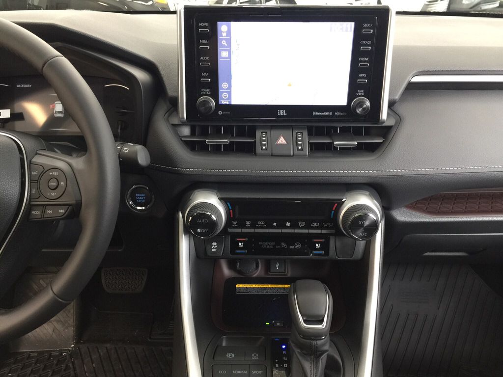 Silver[Silver Sky Metallic] 2021 Toyota RAV4 Limited Central Dash Options Photo in Sherwood Park AB