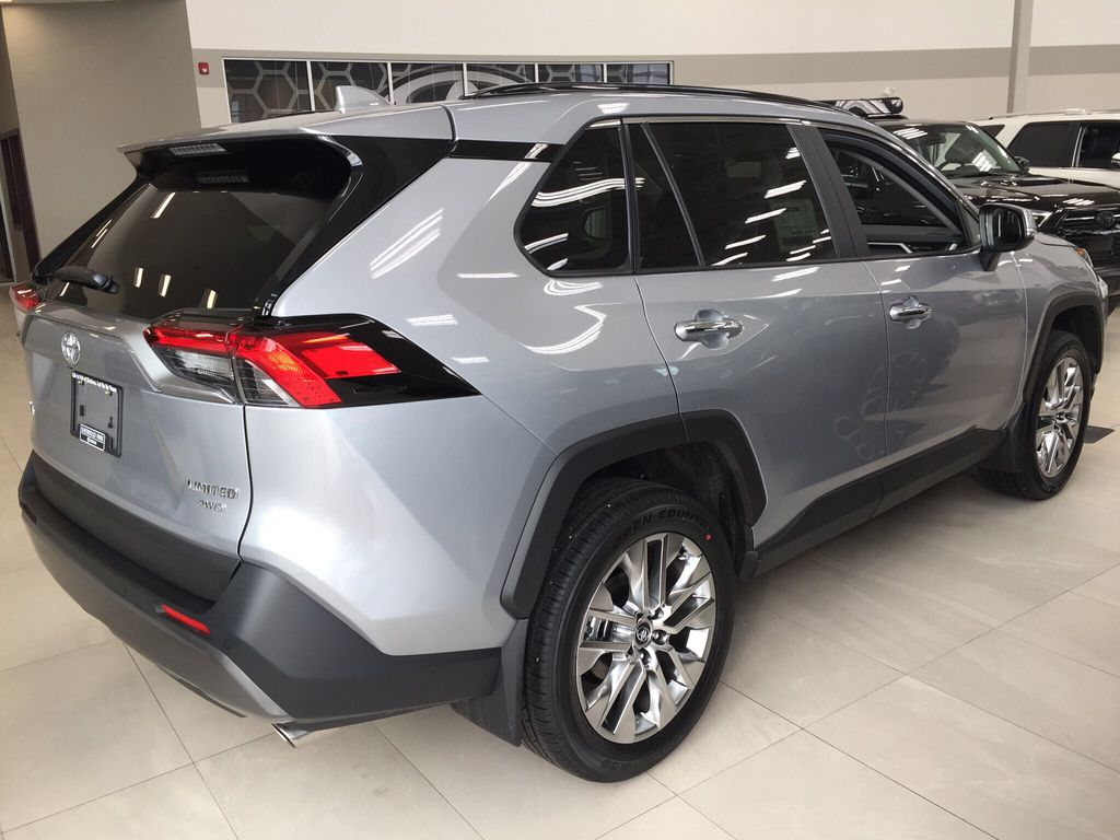 Silver[Silver Sky Metallic] 2021 Toyota RAV4 Limited Right Side Photo in Sherwood Park AB