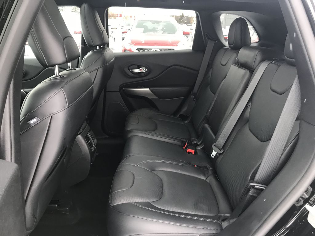 Black 2019 Jeep Cherokee High Altitude 4x4 *Heated/Cooled Seats*Bluetooth*Back-up Cam* Left Side Rear Seat  Photo in Brandon MB
