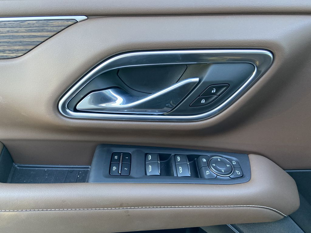 Black[Black] 2021 Chevrolet Tahoe High Country  Driver's Side Door Controls Photo in Calgary AB