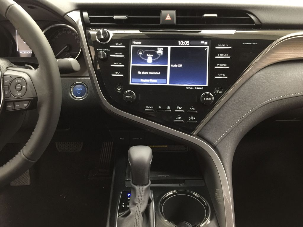 Gray[Pre-Dawn Grey Mica] 2020 Toyota Camry SE Hybrid Central Dash Options Photo in Sherwood Park AB