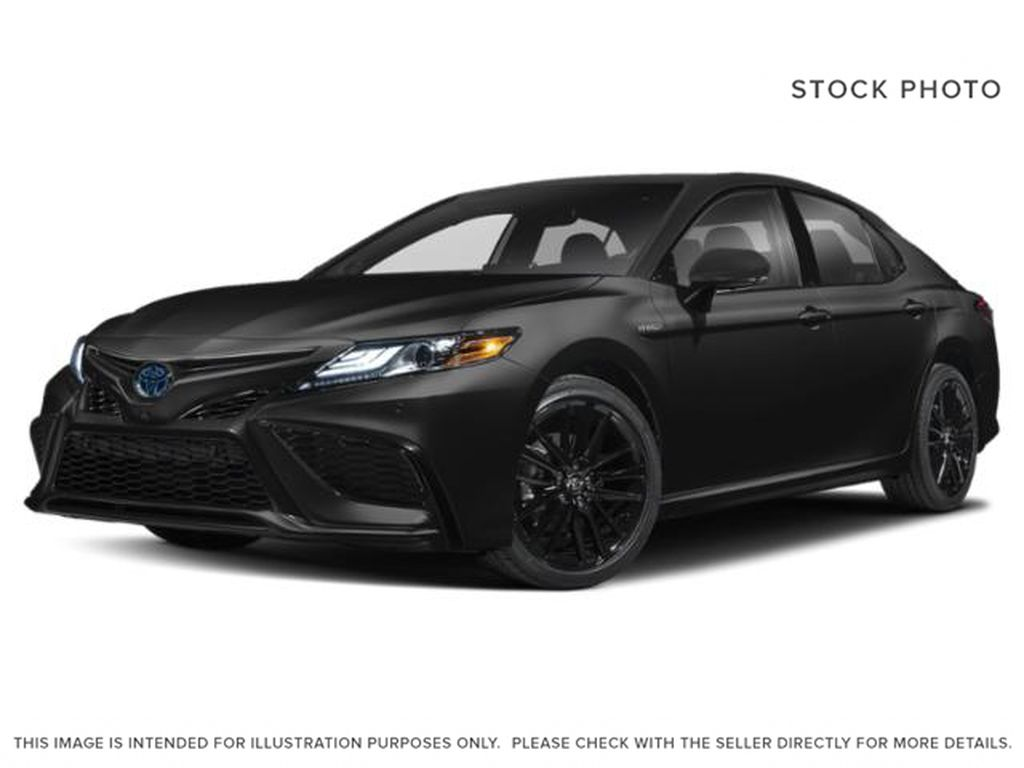 Midnight Black Metallic 2021 Toyota Camry Hybrid XSE