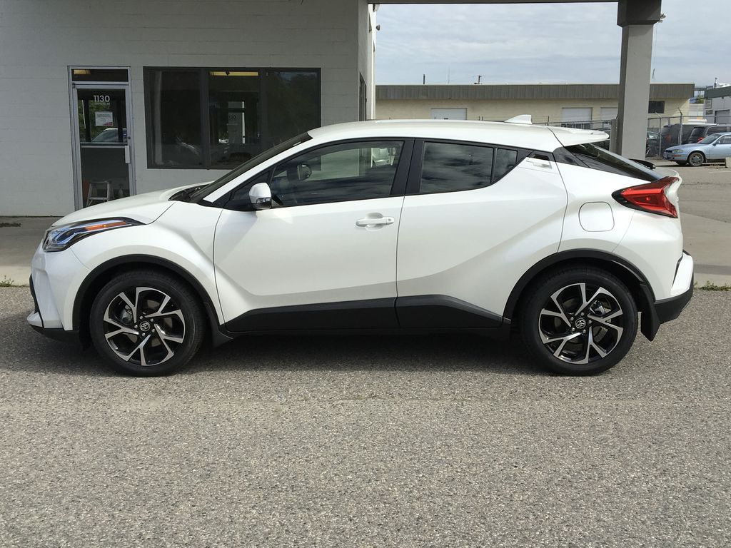 White[Blizzard Pearl] 2021 Toyota C-HR XLE Premium Left Side Photo in Kelowna BC