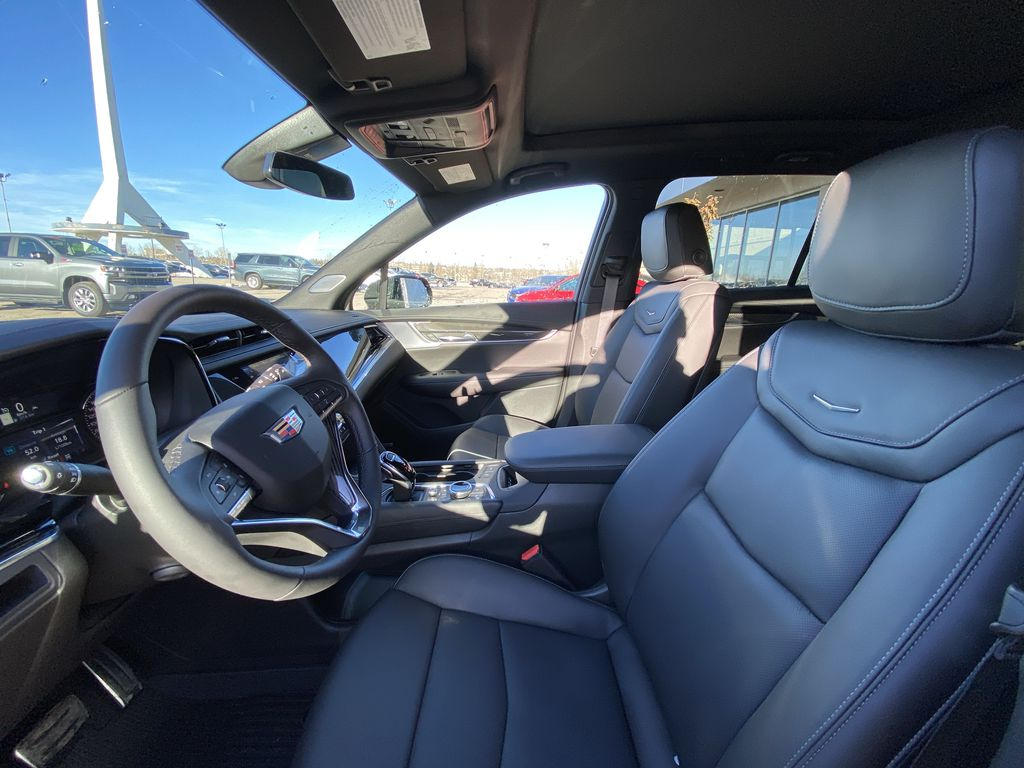 Black[Stellar Black Metallic] 2021 Cadillac XT6 Sport Left Front Interior Photo in Calgary AB