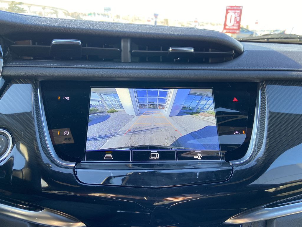 Black[Stellar Black Metallic] 2021 Cadillac XT6 Sport Backup Camera Closeup Photo in Calgary AB