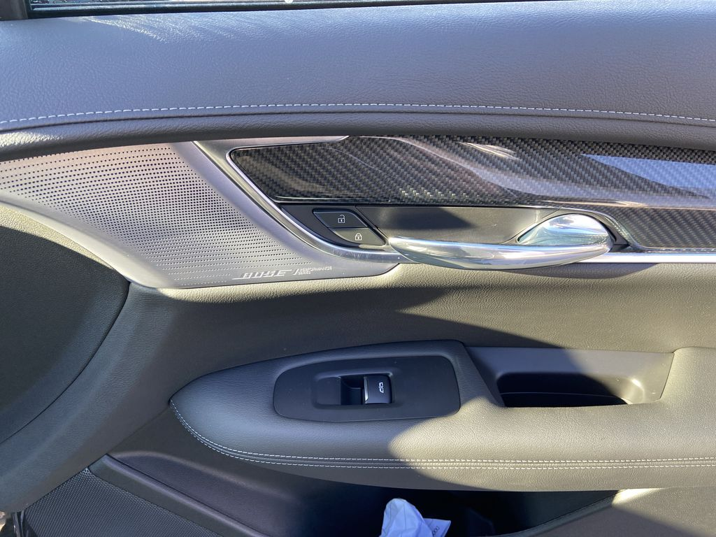 Black[Stellar Black Metallic] 2021 Cadillac XT6 Sport Passenger Front Door Controls Photo in Calgary AB
