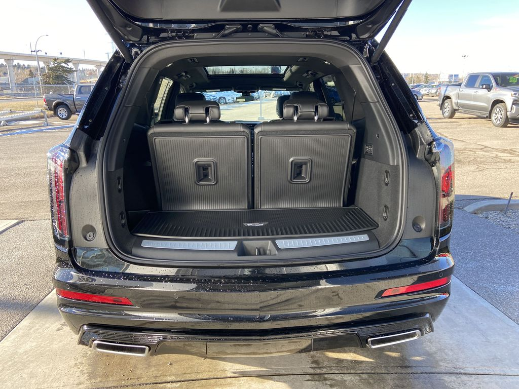Black[Stellar Black Metallic] 2021 Cadillac XT6 Sport Trunk / Cargo Area Photo in Calgary AB