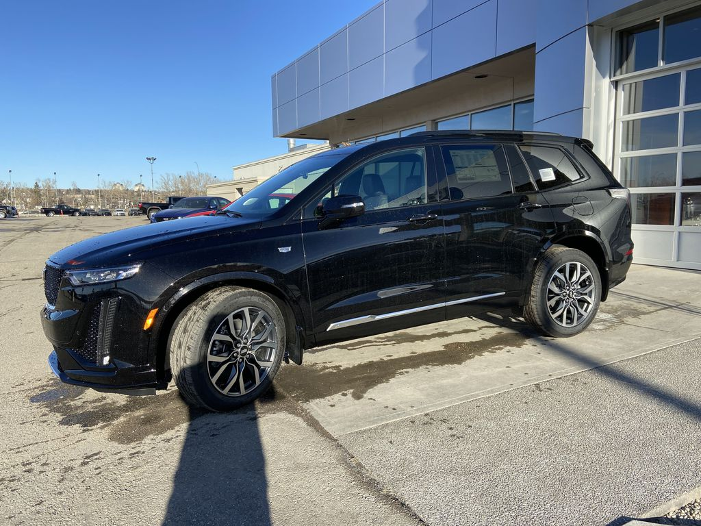 Black[Stellar Black Metallic] 2021 Cadillac XT6 Sport Left Front Corner Photo in Calgary AB