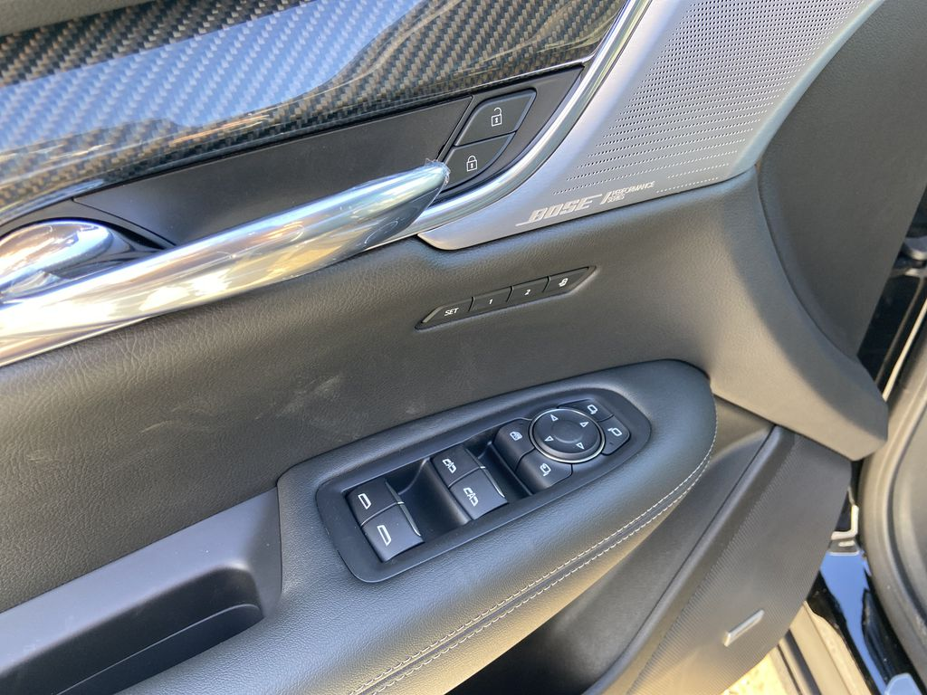 Black[Stellar Black Metallic] 2021 Cadillac XT6 Sport  Driver's Side Door Controls Photo in Calgary AB