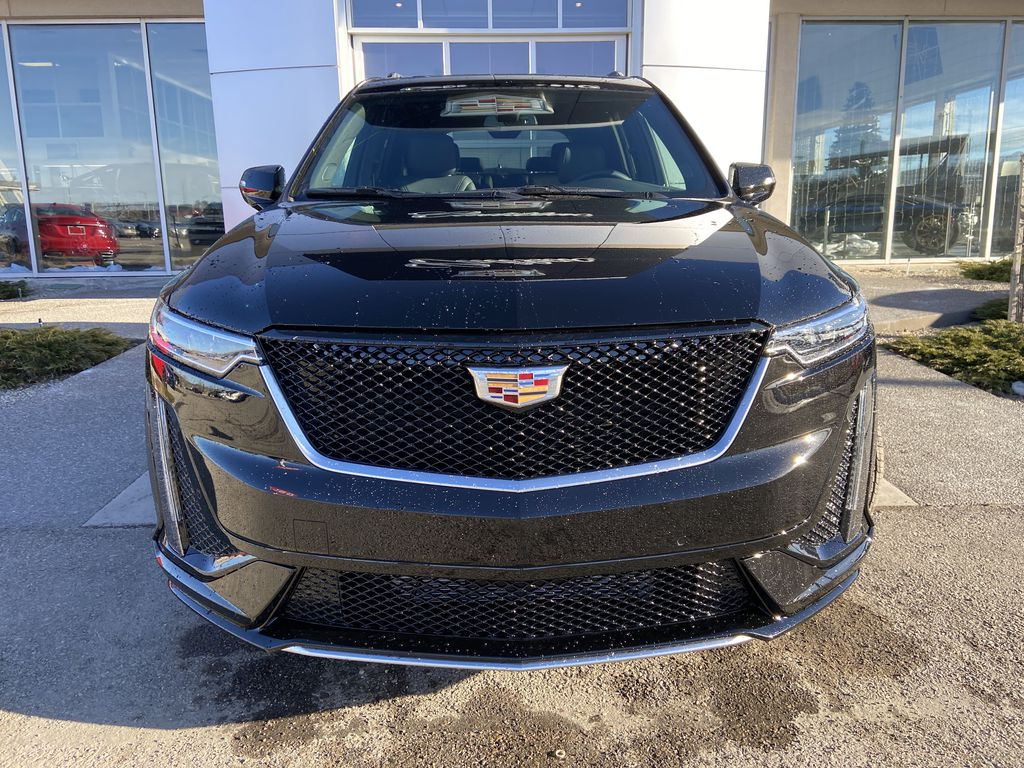 Black[Stellar Black Metallic] 2021 Cadillac XT6 Sport Front Vehicle Photo in Calgary AB