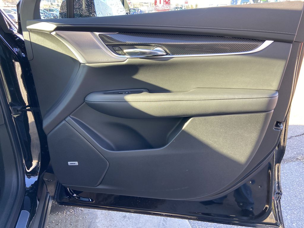 Black[Stellar Black Metallic] 2021 Cadillac XT6 Sport Right Front Interior Door Panel Photo in Calgary AB
