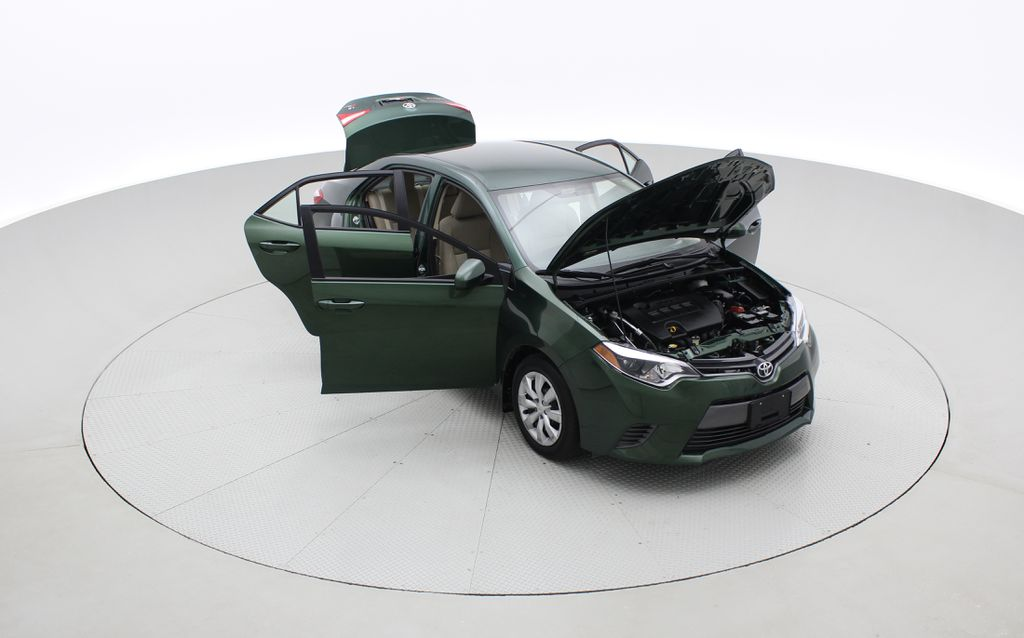 Green[4Evergreen Mica] 2015 Toyota Corolla LE - Auto, Heated Seats, Bluetooth, Cruise Control Left Front Corner Photo in Winnipeg MB