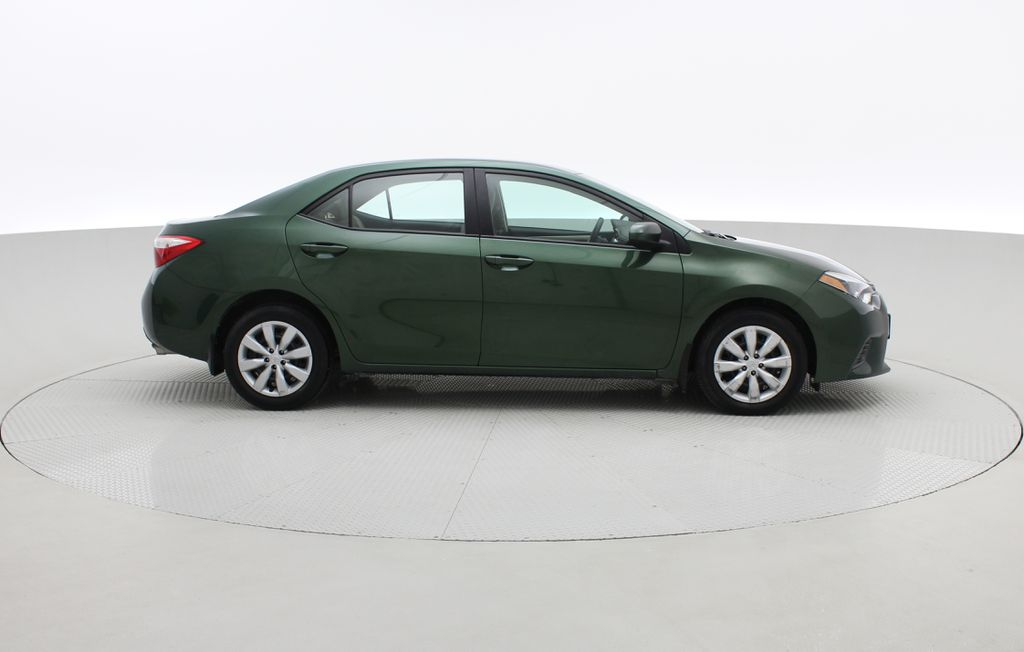 Green[4Evergreen Mica] 2015 Toyota Corolla LE - Auto, Heated Seats, Bluetooth, Cruise Control Right Side Photo in Winnipeg MB