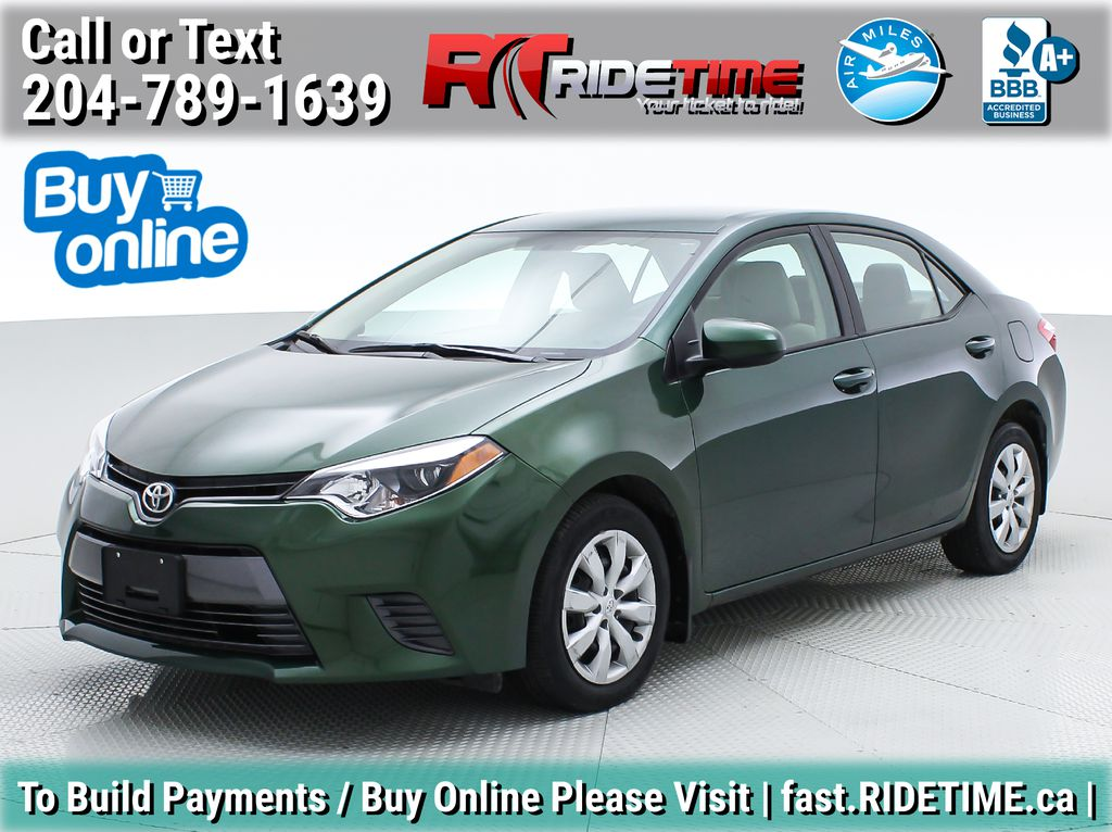 Green[4Evergreen Mica] 2015 Toyota Corolla LE - Auto, Heated Seats, Bluetooth, Cruise Control