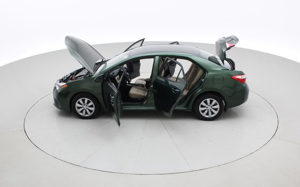 Green[4Evergreen Mica] 2015 Toyota Corolla LE - Auto, Heated Seats, Bluetooth, Cruise Control Left Side Photo in Winnipeg MB