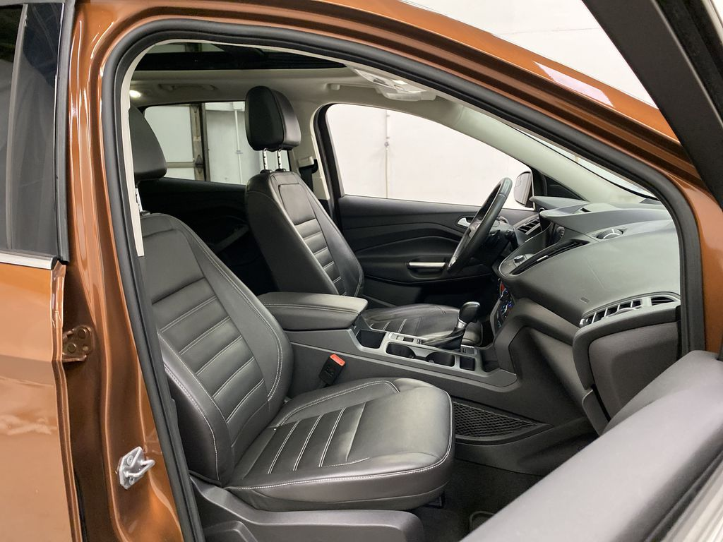Orange[Canyon Ridge] 2017 Ford Escape Right Side Front Seat  Photo in Dartmouth NS