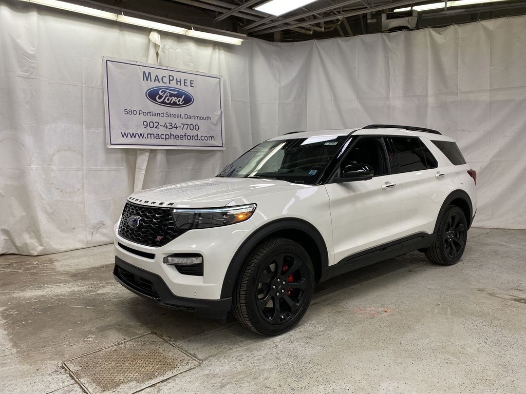 White[Star White Metallic Tri-Coat] 2021 Ford Explorer
