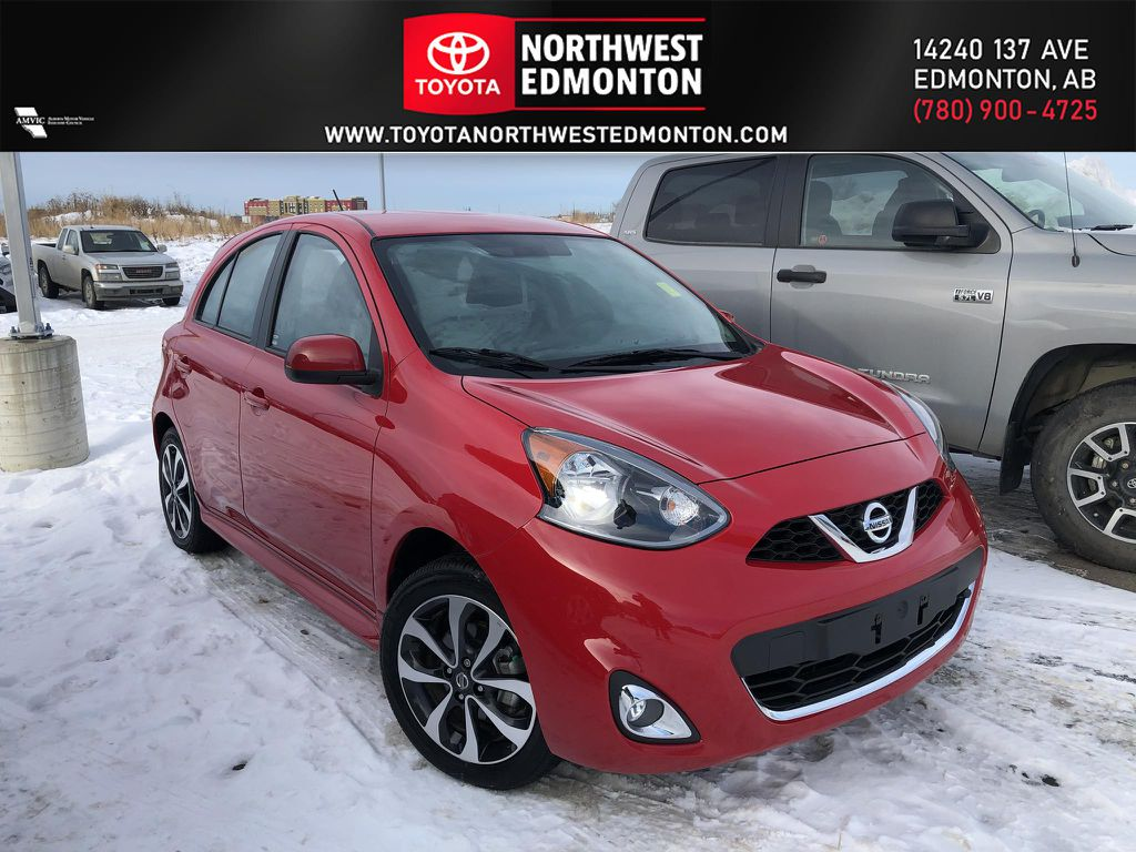 Red 2019 Nissan Micra SV