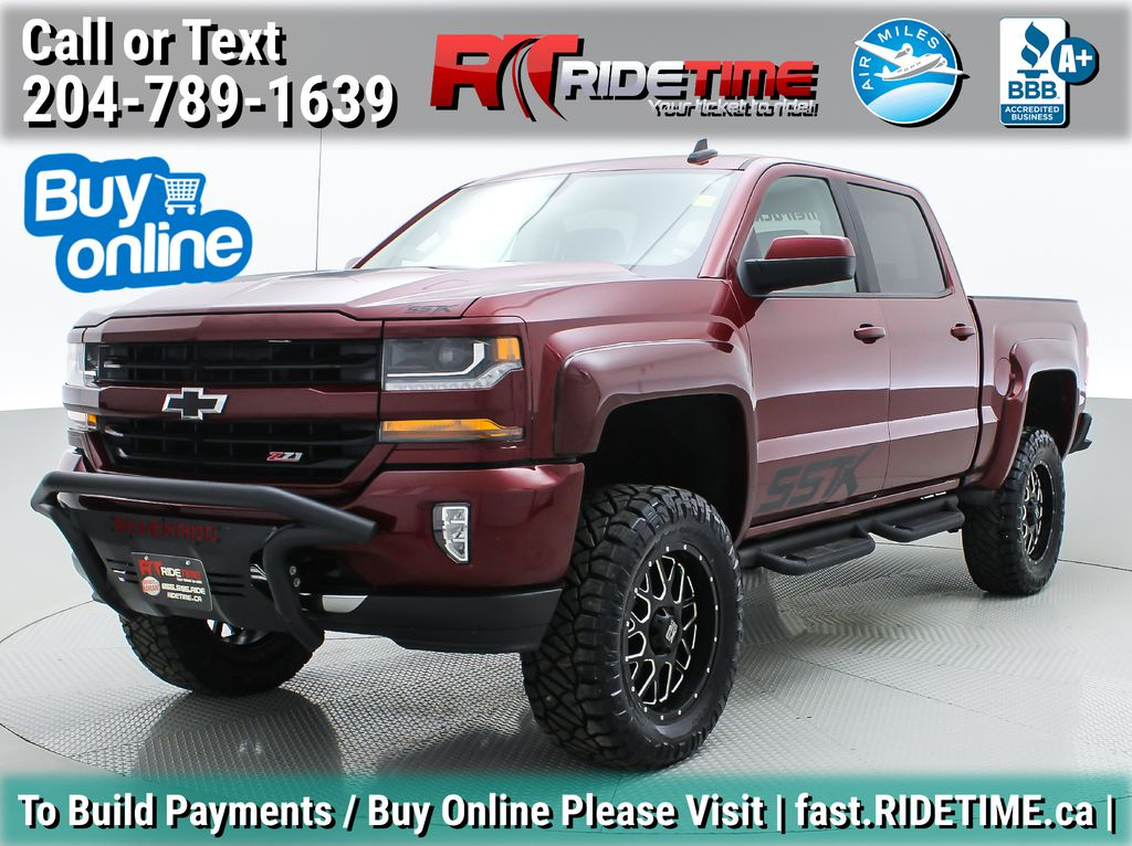 Red[Siren Red Tintcoat] Lifted 2016 Chevrolet Silverado 1500 LT Z71 4WD - Crew Cab, 5.3L