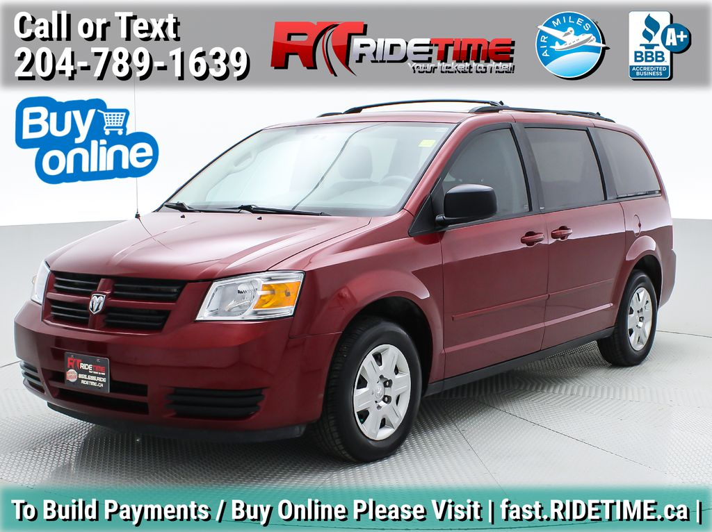 Red[Inferno Red Crystal Pearl] 2010 Dodge Grand Caravan SE - 2nd/3rd Row Stow-N-Go, Aftermarket NAV
