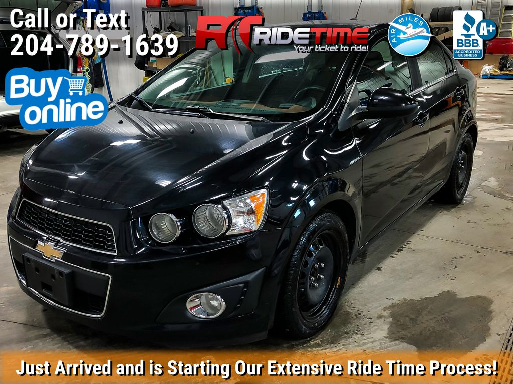 Black[Mosaic Black Metallic] 2016 Chevrolet Sonic LT - Automatic, Sunroof, 2 Sets Of Wheels