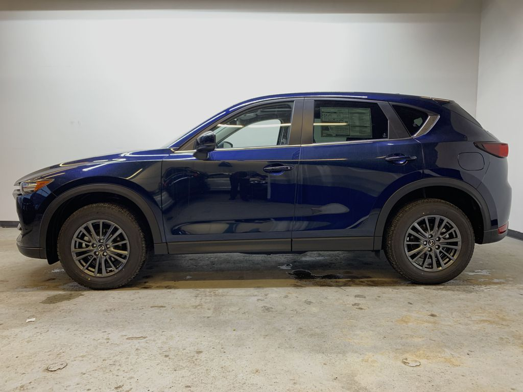 DEEP CRYSTAL BLUE MICA(42M) 2021 Mazda CX-5 GS Comfort AWD Left Side Photo in Edmonton AB