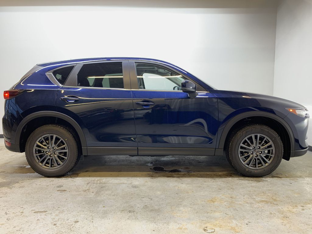 DEEP CRYSTAL BLUE MICA(42M) 2021 Mazda CX-5 GS Comfort AWD Right Side Photo in Edmonton AB