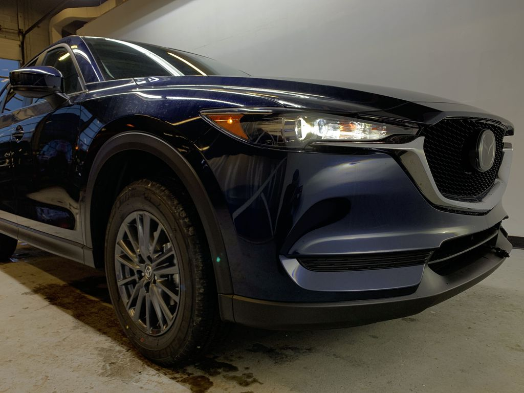 DEEP CRYSTAL BLUE MICA(42M) 2021 Mazda CX-5 GS Comfort AWD Right Front Corner Photo in Edmonton AB