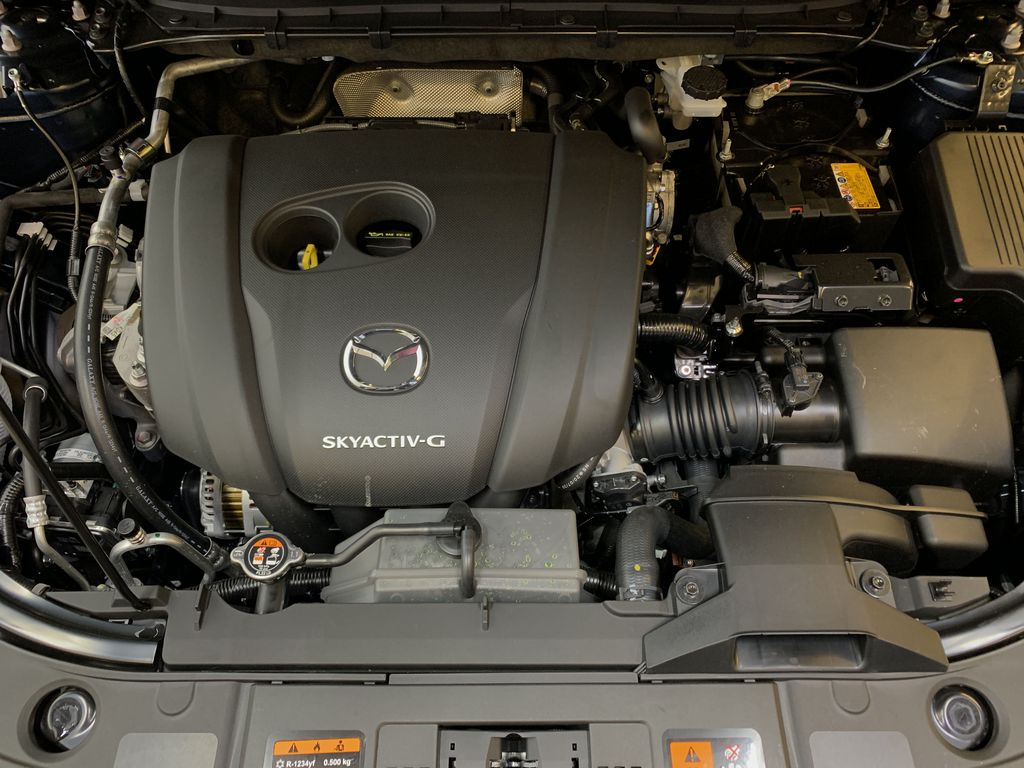 DEEP CRYSTAL BLUE MICA(42M) 2021 Mazda CX-5 GS Comfort AWD Engine Compartment Photo in Edmonton AB
