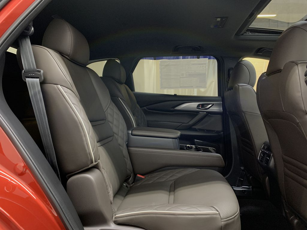 SOUL RED CRYSTAL METALLIC(46V) 2021 Mazda CX-9 Signature AWD Right Side Rear Seat  Photo in Edmonton AB