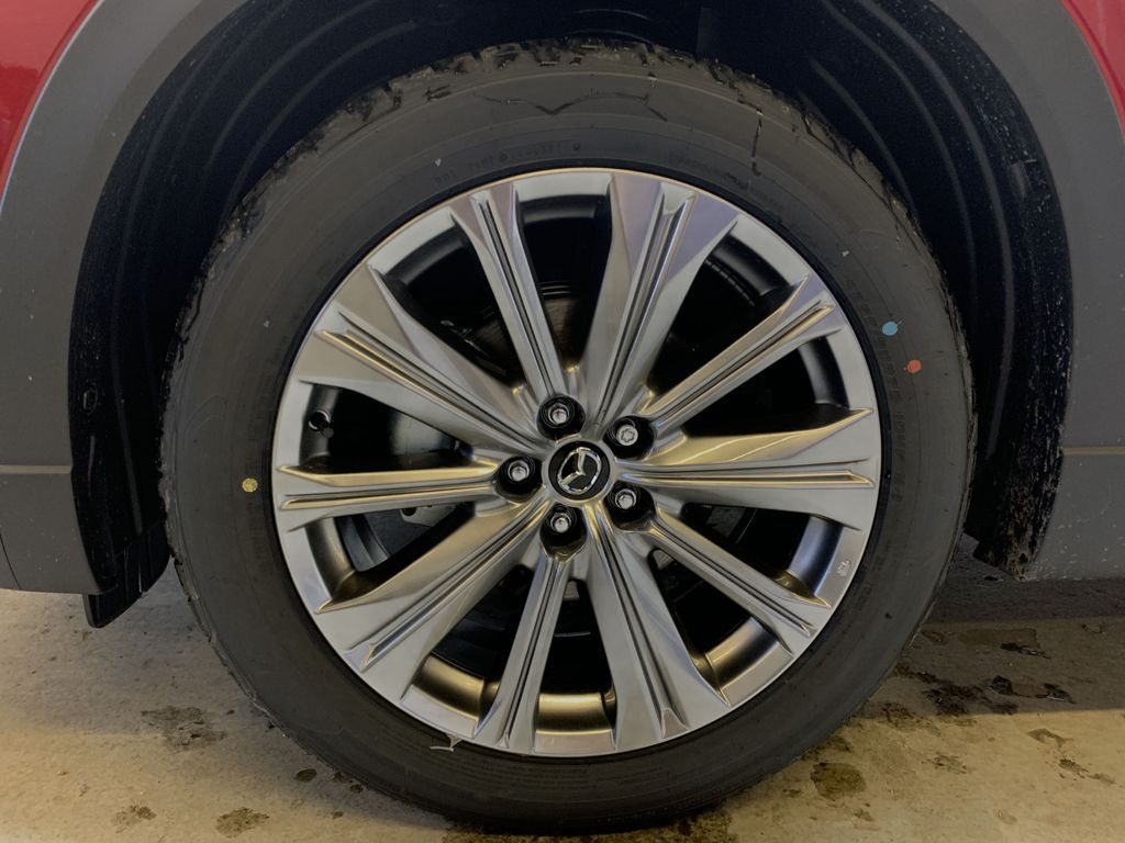 SOUL RED CRYSTAL METALLIC(46V) 2021 Mazda CX-9 Signature AWD Left Front Rim and Tire Photo in Edmonton AB
