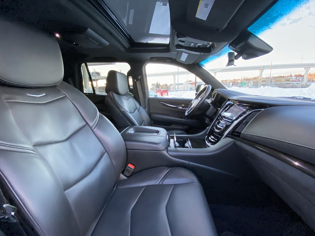 Silver[Radiant Silver Metallic] 2019 Cadillac Escalade Platinum Right Side Front Seat  Photo in Calgary AB