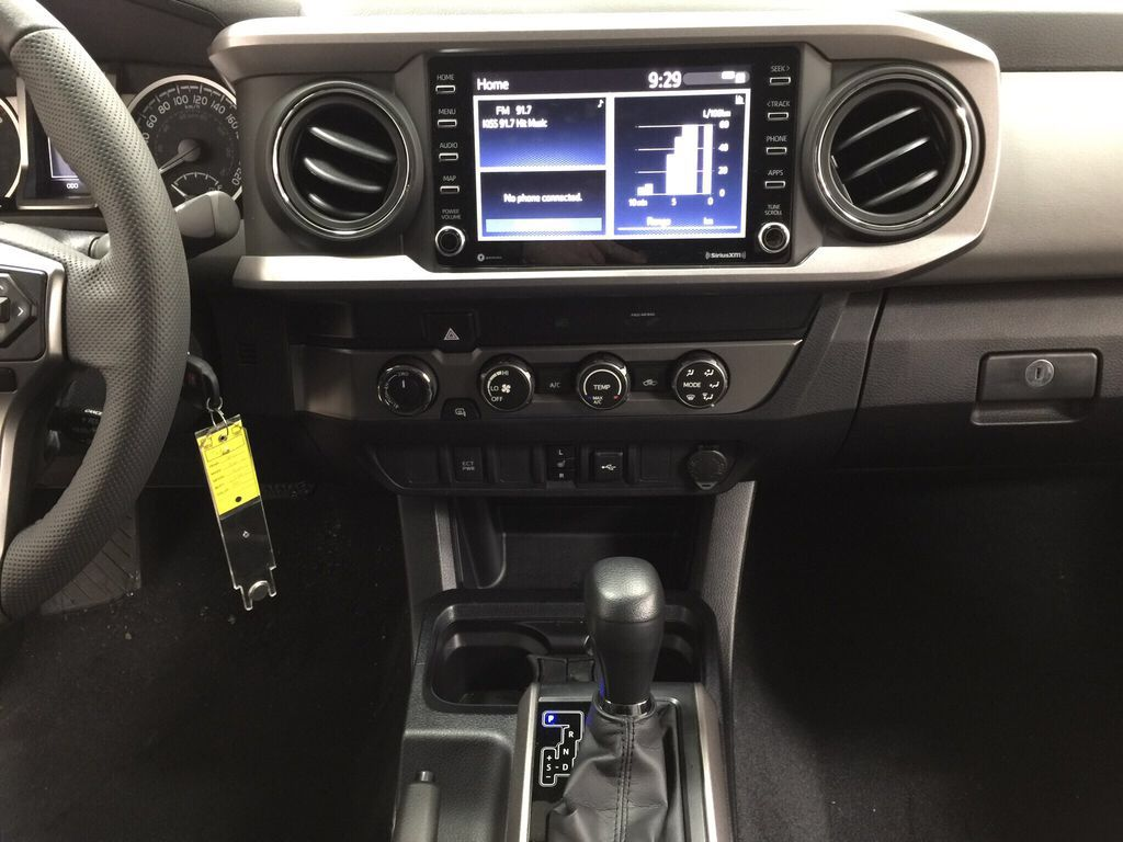 Gray[Magnetic Grey Metallic] 2021 Toyota Tacoma SR5 Central Dash Options Photo in Sherwood Park AB