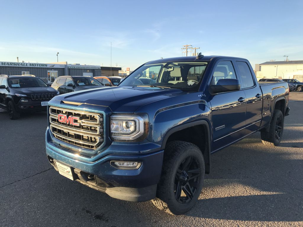 "Blue[Stone Blue Metallic] 2017 GMC Sierra 1500 4WD Double Cab Elevation 143.5""*Level Kit* *Bluetooth* *Tow Pkg*"