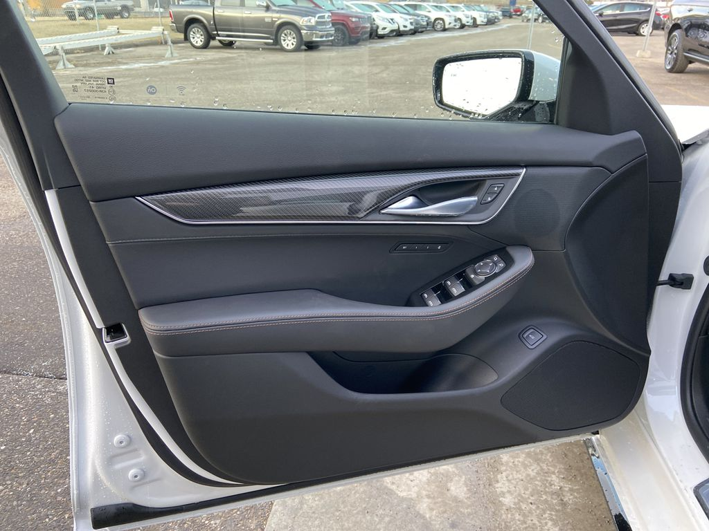 White[Crystal White Tricoat] 2021 Cadillac CT5 Sport Left Front Interior Door Panel Photo in Calgary AB