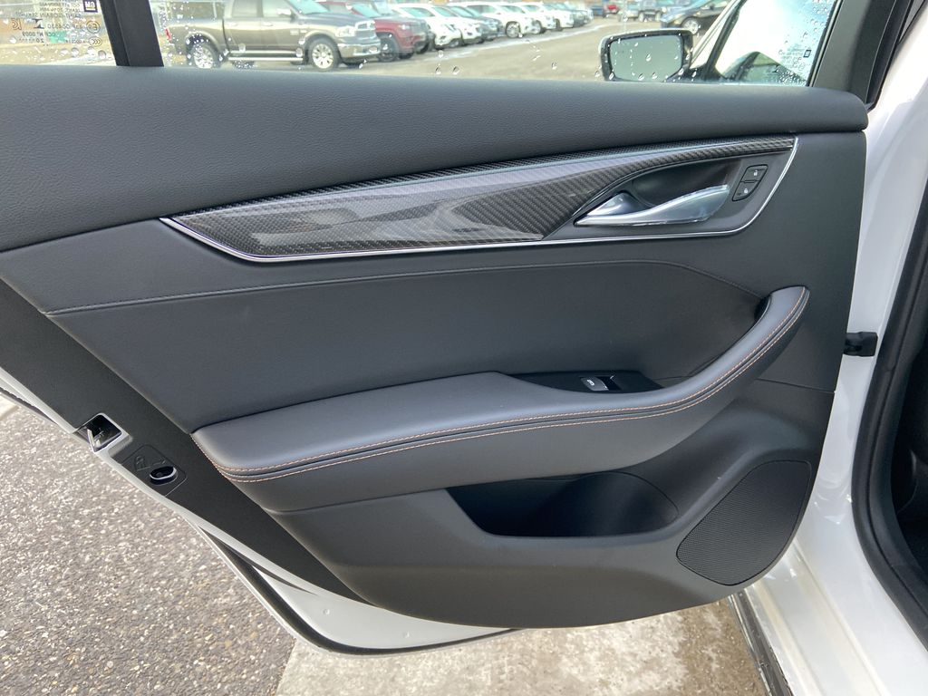 White[Crystal White Tricoat] 2021 Cadillac CT5 Sport Left Rear Interior Door Panel Photo in Calgary AB