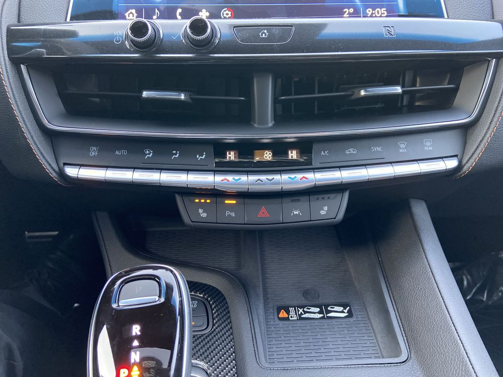 White[Crystal White Tricoat] 2021 Cadillac CT5 Sport Central Dash Options Photo in Calgary AB