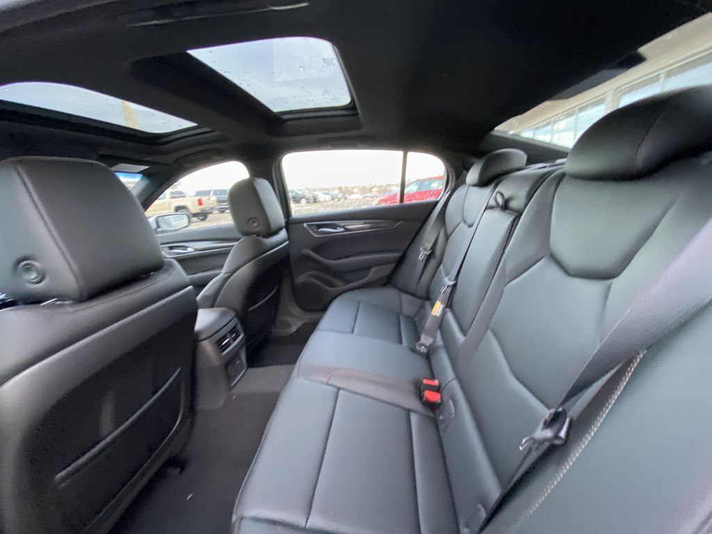 White[Crystal White Tricoat] 2021 Cadillac CT5 Sport Left Side Rear Seat  Photo in Calgary AB