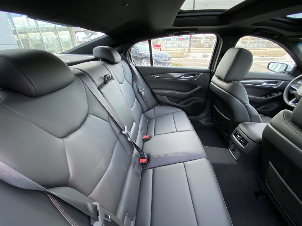 White[Crystal White Tricoat] 2021 Cadillac CT5 Sport Right Side Rear Seat  Photo in Calgary AB