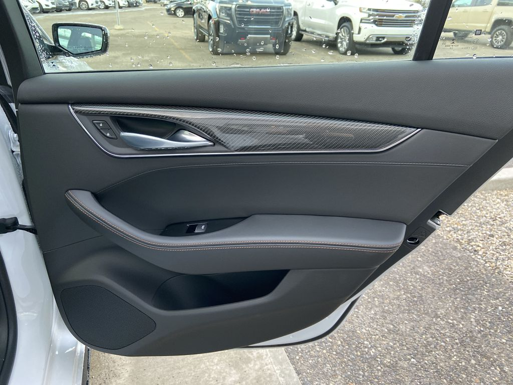 White[Crystal White Tricoat] 2021 Cadillac CT5 Sport Right Rear Interior Door Panel Photo in Calgary AB