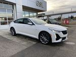 White[Crystal White Tricoat] 2021 Cadillac CT5 Sport Right Front Corner Photo in Calgary AB