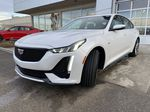 White[Crystal White Tricoat] 2021 Cadillac CT5 Sport Left Front Head Light / Bumper and Grill in Calgary AB