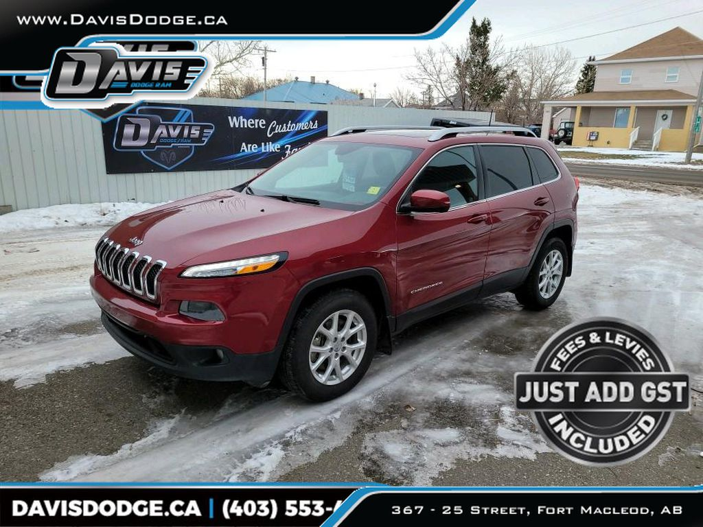 Red 2016 Jeep Cherokee