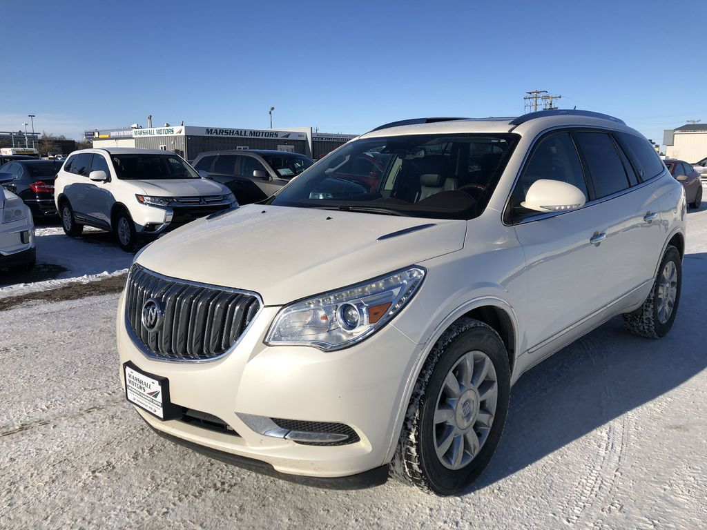White[White Diamond Tricoat] 2014 Buick Enclave AWD 4dr Premium *Collision Warning* *Heated Seats* *Remote Start*