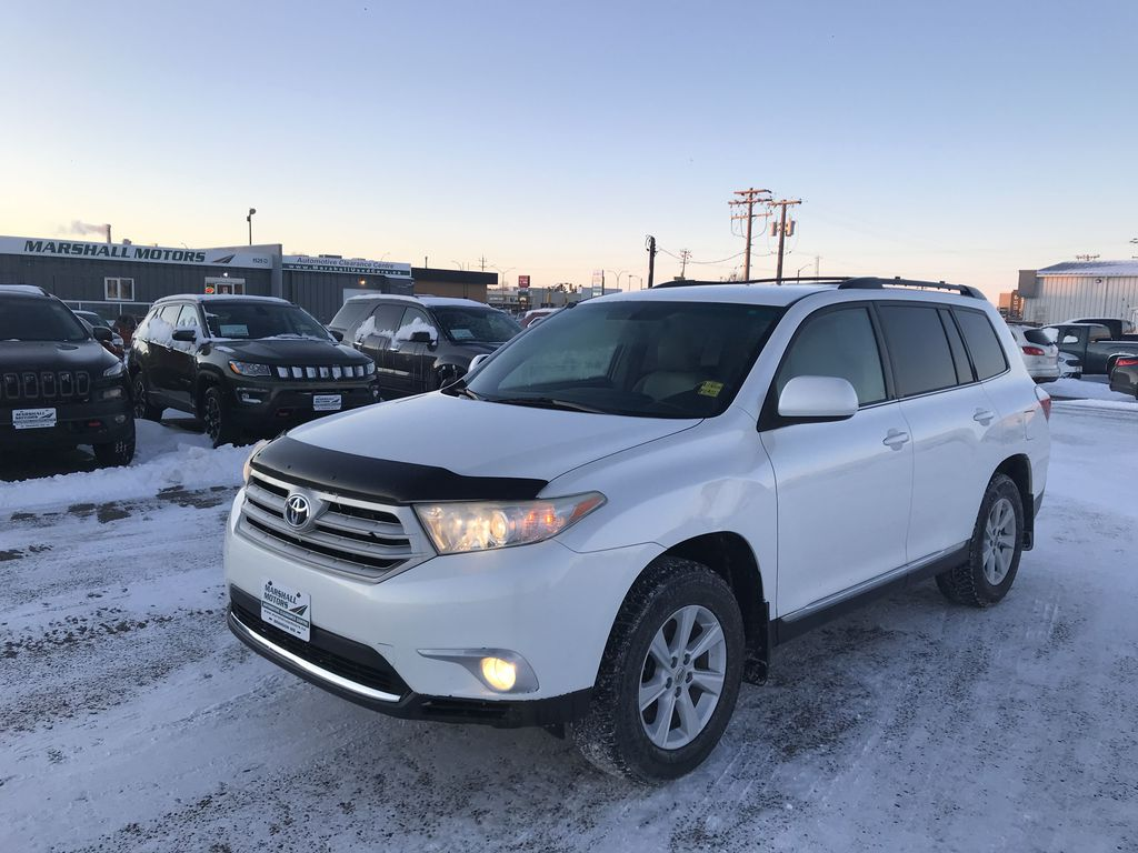 White[Blizzard Pearl] 2013 Toyota Highlander V6 4WD 4dr *Heated Seats* *Bluetooth*