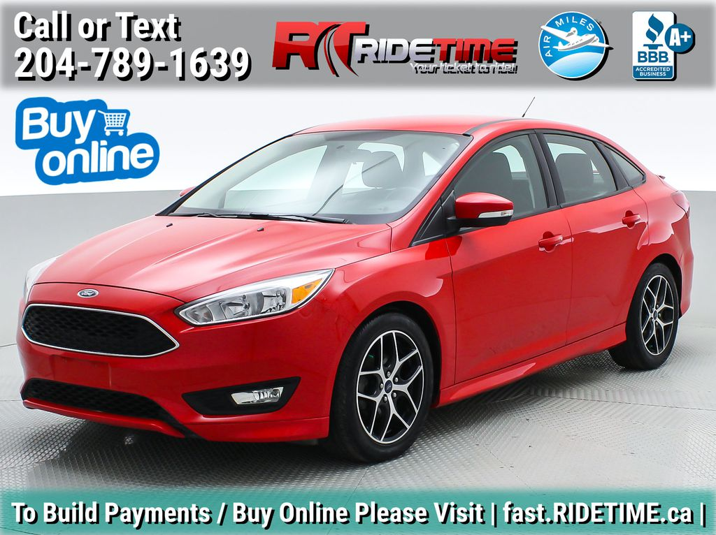Red[Race Red] 2015 Ford Focus SE Sedan - Sport Package, Backup Cam, Heated Seats