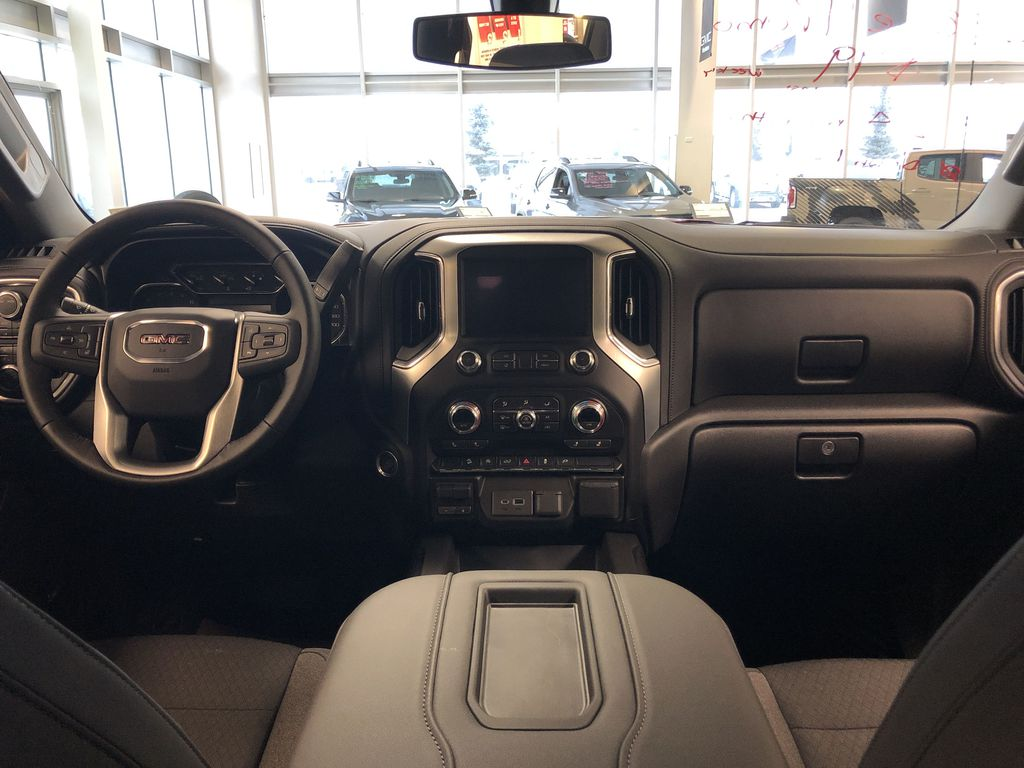 Red[Cayenne Red Tintcoat] 2021 GMC Sierra 1500 Center Console Photo in Edmonton AB