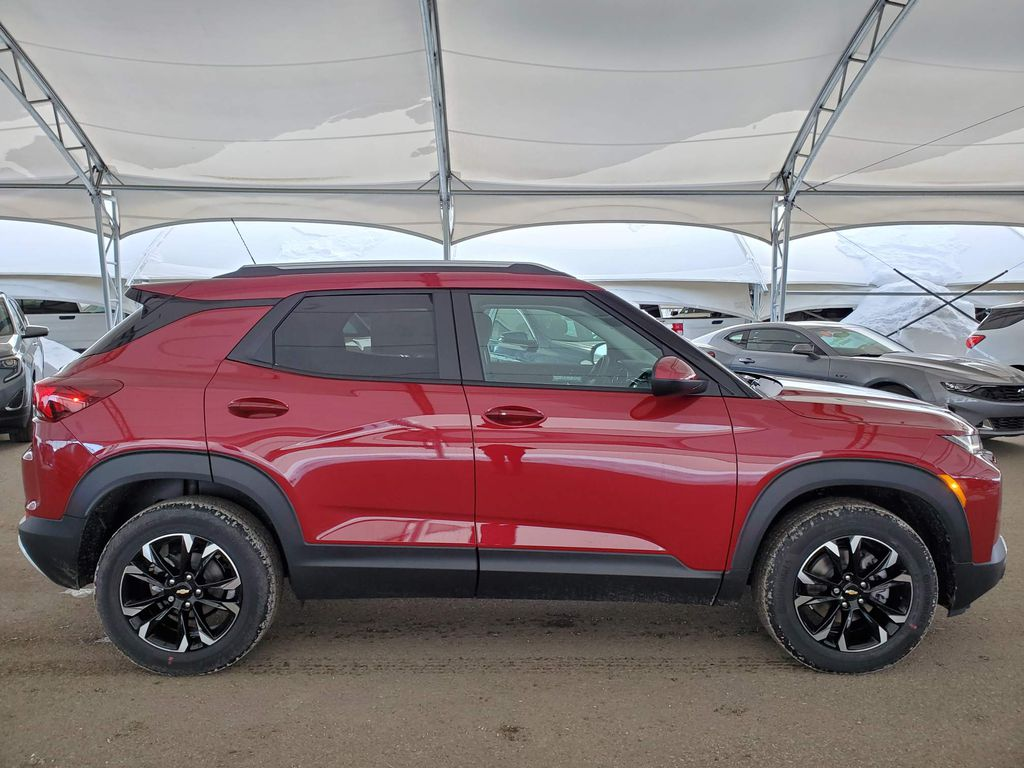 Red 2021 Chevrolet Trailblazer Rear of Vehicle Photo in Airdrie AB