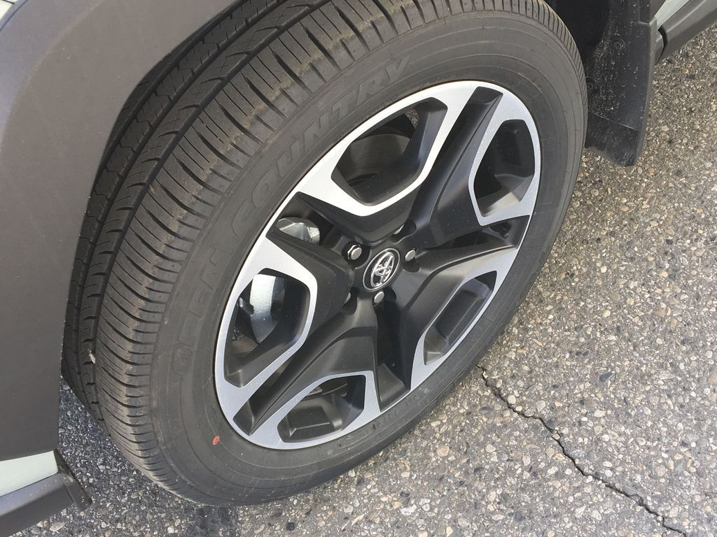 Gray[Lunar Rock/Ice Edge Roof] 2021 Toyota RAV4 Left Front Rim and Tire Photo in Kelowna BC