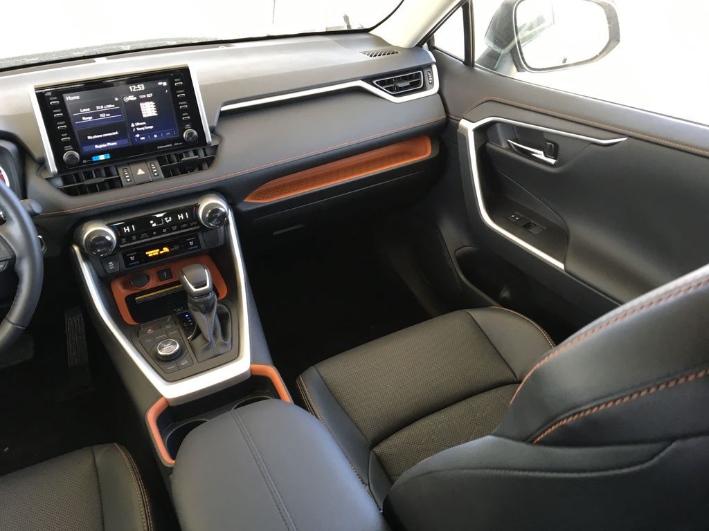 Gray[Lunar Rock/Ice Edge Roof] 2021 Toyota RAV4 Right Side Front Seat  Photo in Kelowna BC